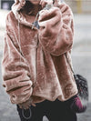 Plus Size Winter Warm Teddy Hooded Fur Coat