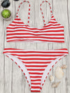 Striped Split Sexy Swimsuit - BelleChloe