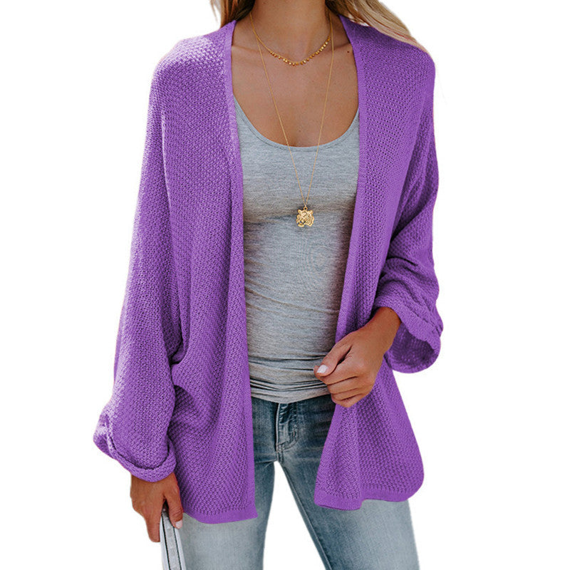 Loose Open Front Kimono Cardigan Long Sleeve Sweater - BelleChloe