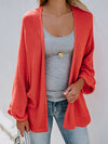 Solid Color Buttons Pockets Lightweight Cardigan