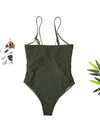 Solid One Piece Tropical  Sun Beachwear - BelleChloe