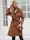 Casual Drawstring Corduroy Thick Parka Soft Padded Coat