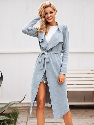 Suede Trench Coat Casual Leather Long Coat