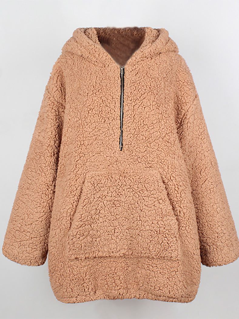 Plus Size Winter Warm Teddy Hooded Fur Coat-Coats-BelleChloe
