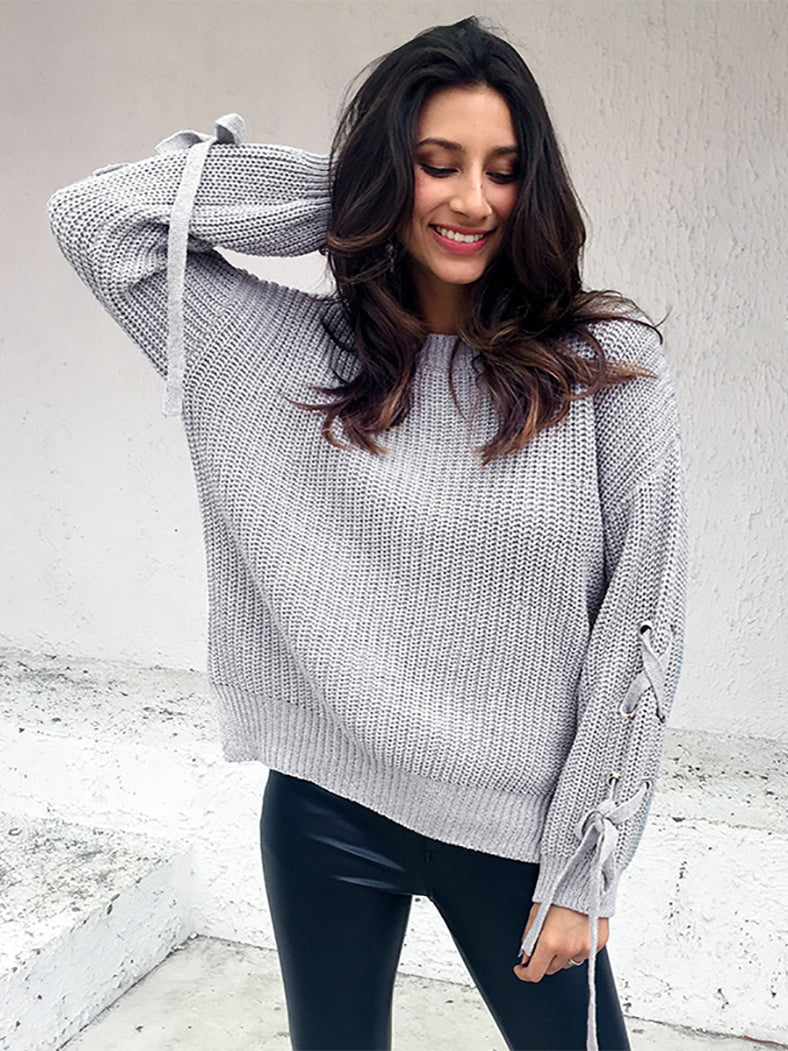 Knitting Pull Femme Autumn Or Winter Sweater-Sweaters-BelleChloe