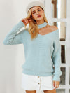 Winter Lantern Sleeve Knitted Sweater Loose Round Neck Sweater