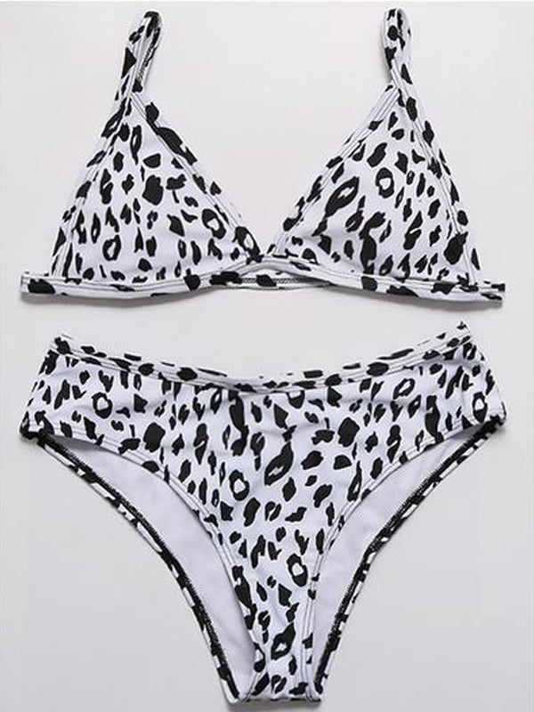Leopard High Waist Split Swimsuit