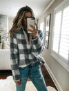 Zipper Design Plaid Hoodies Sweater