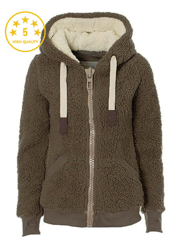 Elegant Shaggy Faux Fur Streetwear Winter Plush Teddy Coat