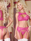 Sexy Lingerie Bra Set Lace Bandage Belt Hollow Bra Intimates