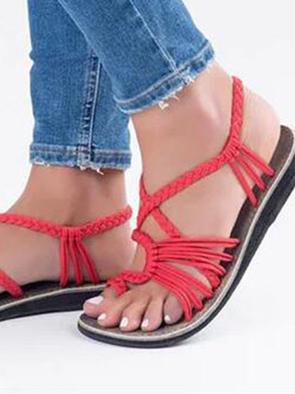 Women Outdoor Sandals Flats Flip Flops  Summer - BelleChloe
