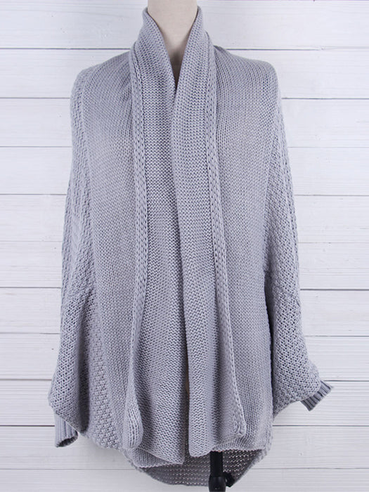Casual Long Kintted Batwing Sleeves Oversized Sweater Cardigan - BelleChloe