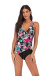 SLV  PLUS SIZE Floral One-Piece