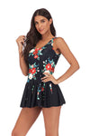 SLV FLORAL BATHING SUIT