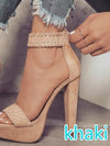 Chunky Heel Super High Heel Waterproof  Shoes - BelleChloe