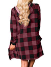 Casual Front Open Plaid Pattern Long Pockets Scottish Shirt Cardigan - BelleChloe