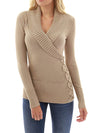 Casual Loose Color-Block High Neck Knitted Shift Sweater