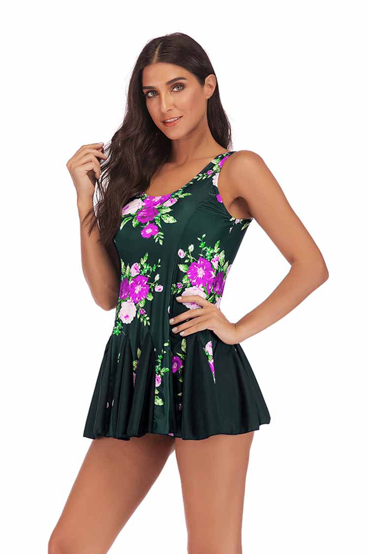 SLV FLORAL BATHING SUIT - BelleChloe