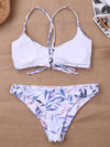 High Cut Floral Printed Bikini Swimsuit - BelleChloe