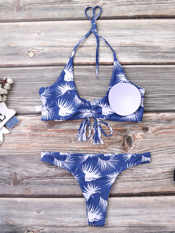Summer Beach Low Waist Push Up Bikini Set - BelleChloe
