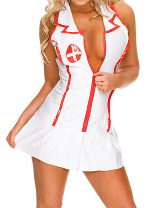 Women Sexy Costumes Cosplay Nurse Uniform Lingerie Fancy Dress Set Outfit