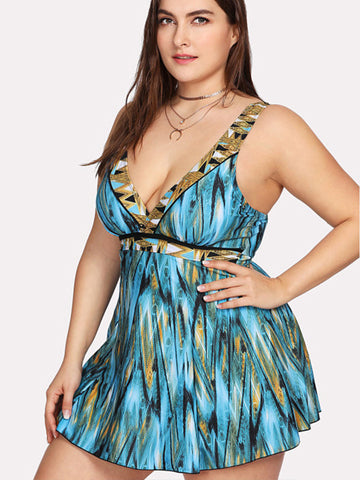 Solid Color Sling Chest Flower Sexy One Piece Swimsuit