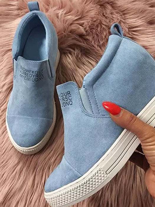 Large Size Bottoming Casual  Chic Increased Round Toe Shoes - BelleChloe