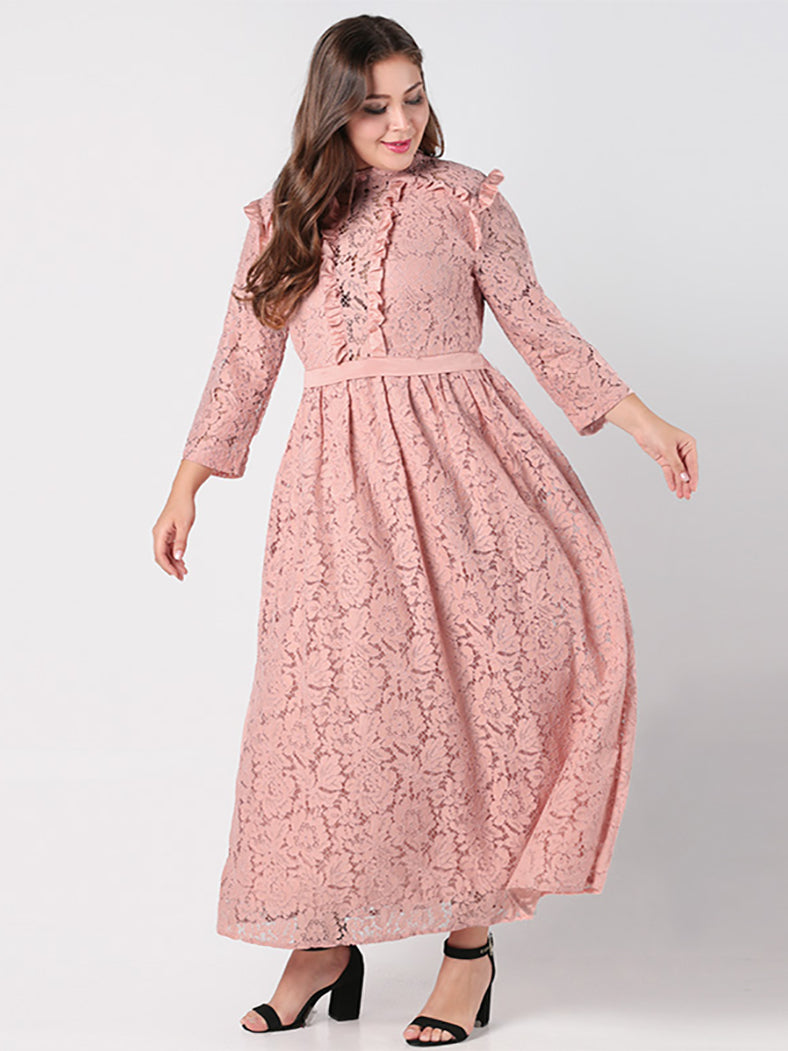 Elegant Lace Long Dress - BelleChloe