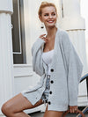 V-Neck Button Vintage Long Sleeve Casual Sweater-Cardigans-BelleChloe