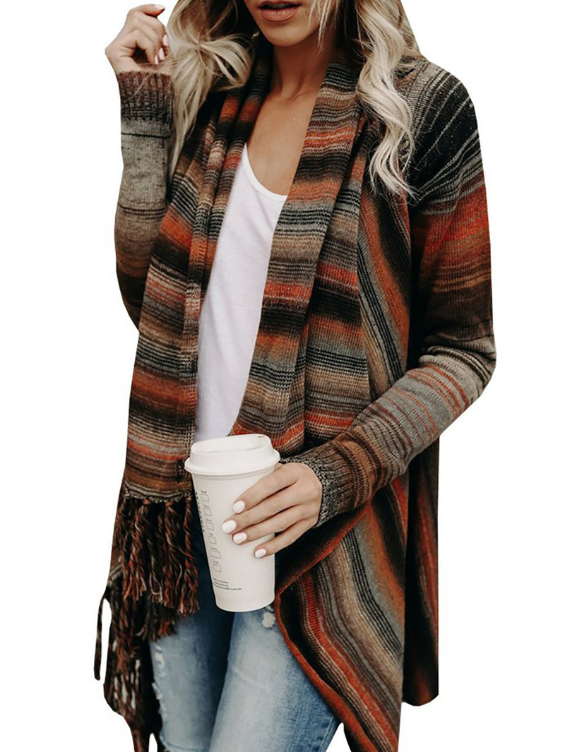 Large Size Warm Cardigan Sweater - BelleChloe