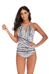 SLV  HALTER DESIGN ONE-PIECE
