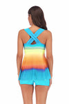 SLV  CRISS-CROSS RAINBOW TANKINIS