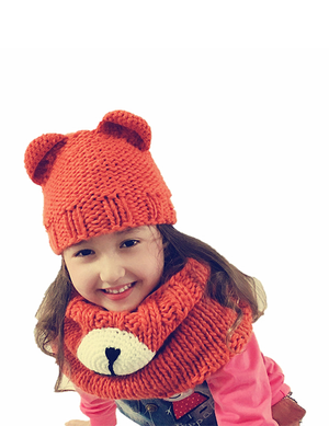 Cute Bear Knit Mask Hat Winter - BelleChloe