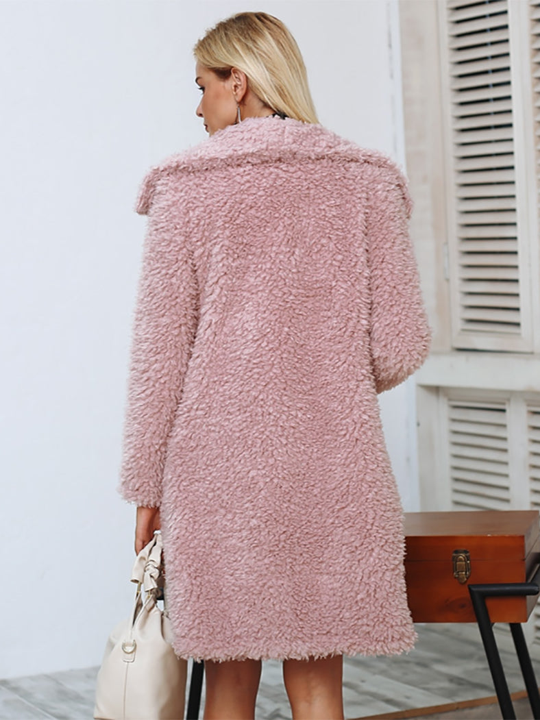 Warm Winter Faux Fur Coat Women Streetwear Elegant Long Coat-jackets-BelleChloe