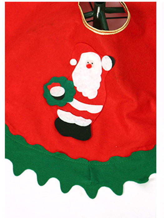 32Inches Santa Claus Snowman Christmas Tree Skirt Mat - BelleChloe