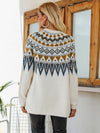 Fair Isle Knitted Long Cardigan - BelleChloe