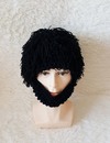 Autumn And Winter Beard Wig Wool Hat Handmade Knit Funny Straw Hat - BelleChloe