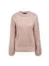 Sexy Hollow O-neck Long Sleeve Casual Pullover Loose Knitted Sweaters