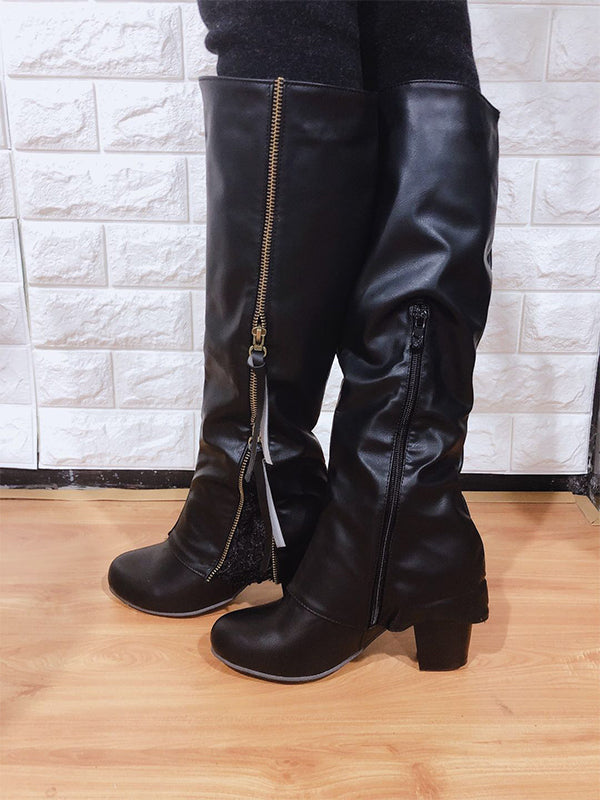 Retro Chunky Heel Boots Autumn Winter Waterproof Boots