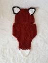 New Cut Cartoon Fox Handmade Bib Knit Hat - BelleChloe