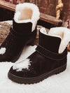 【Big Sale!】 [Quality] Waterproof  Spuer Soft  Snow Boots Fur Plush Insole Ankle Boots - BelleChloe