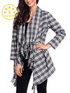 Loose Open Front Kimono Cardigan Long Sleeve Sweater
