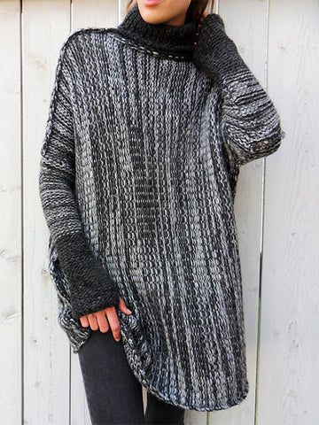 Off Shoulder Chunky Knitted V-Neck Oversized Sweater