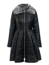 Elegant Peplum Satin Parka Coat - BelleChloe