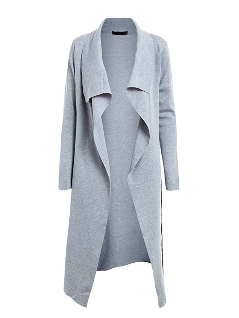 Women Turn Down Collar Thick Casual Coat-Coats-BelleChloe