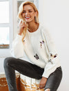 Women Casual White Winter Pullover Autumn Elegant Streetwear-Sweaters-BelleChloe