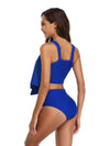 Summer Pure Color Split Swimsuit - BelleChloe