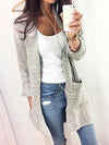 Casual Leopard Print Long Cardigan