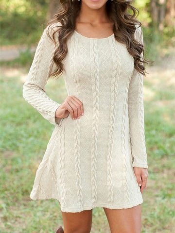 Cross Wrap Front V-Neck Long Sleeve Knitted Casual Sweater