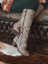 Retro Chunky Heel Boots Autumn Winter Waterproof Boots-Boots-BelleChloe